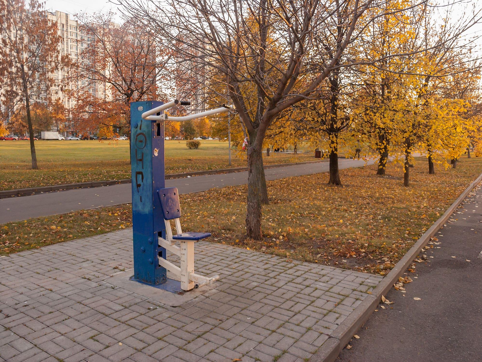 """Уличный тренажёр в парке """"Братеевская набережная"""""""
