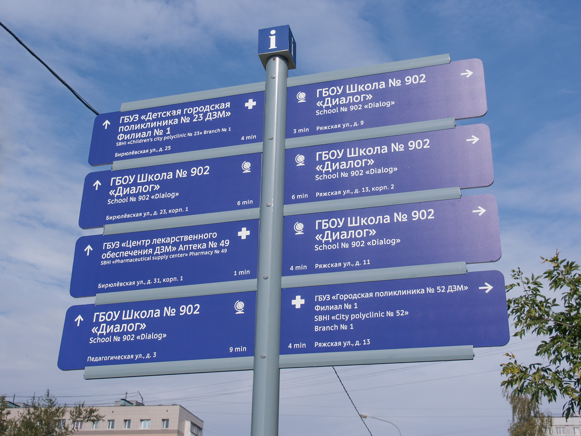 Городские навигационные указатели в Москве