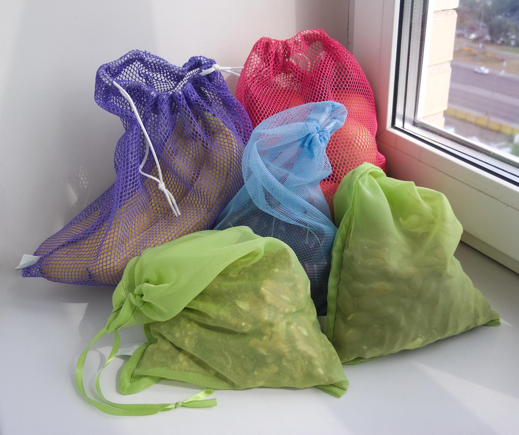 Многоразовые фасовочные мешочки для продуктов