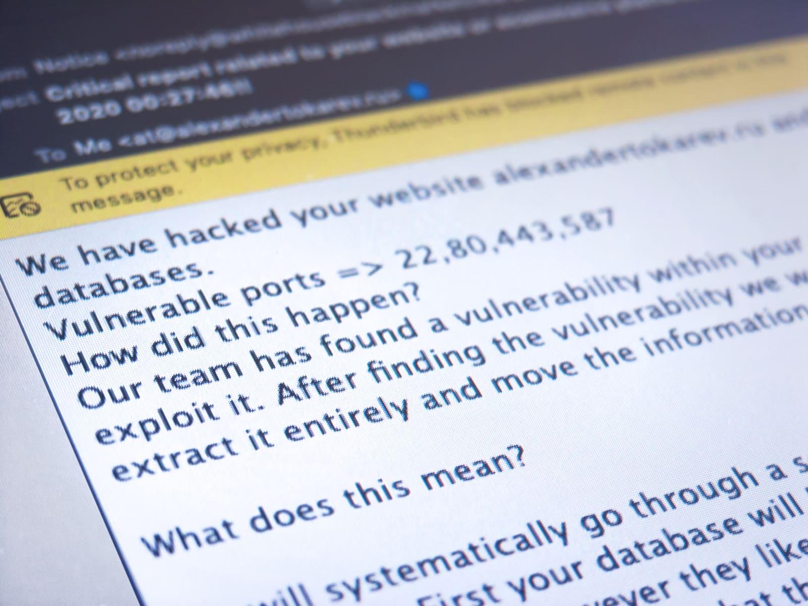 Письмо от хакера