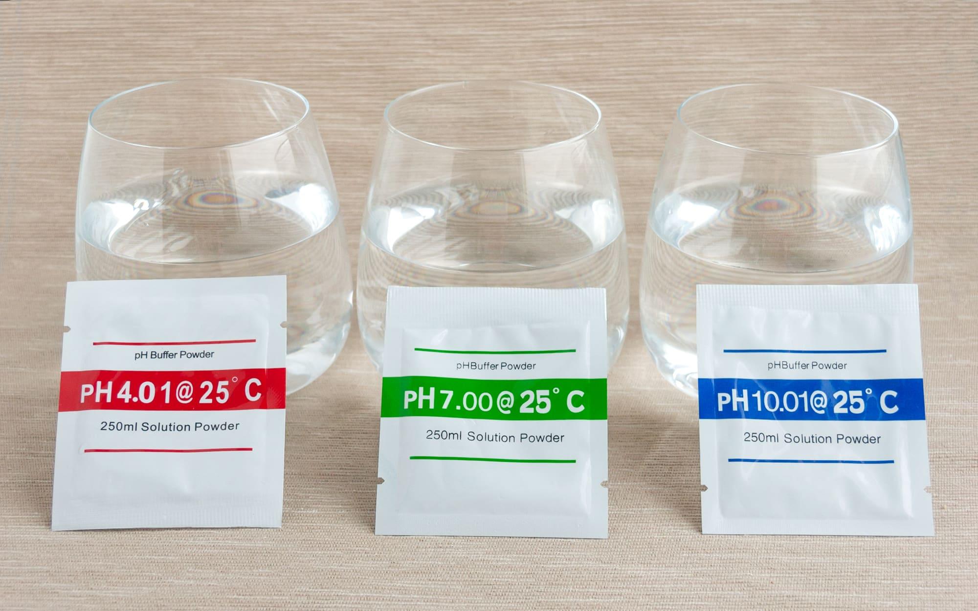 Стаканы и порошки для pH-калибровки