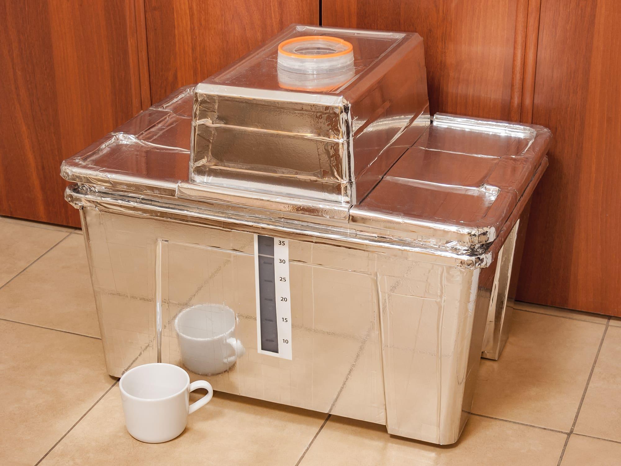 Гидропонный контейнер для огурцов