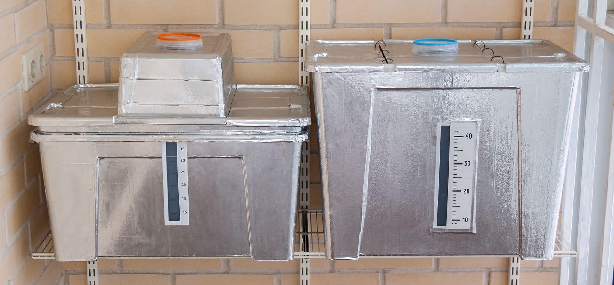 Гидропонные контейнеры для огурцов