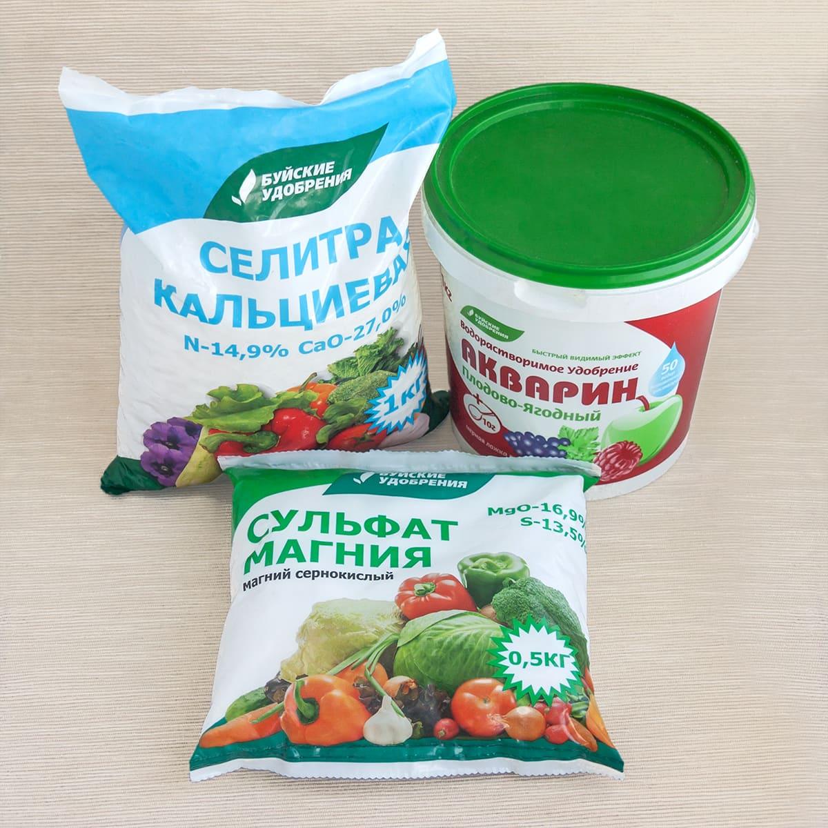 Ингредиенты гидропонного питательного раствора