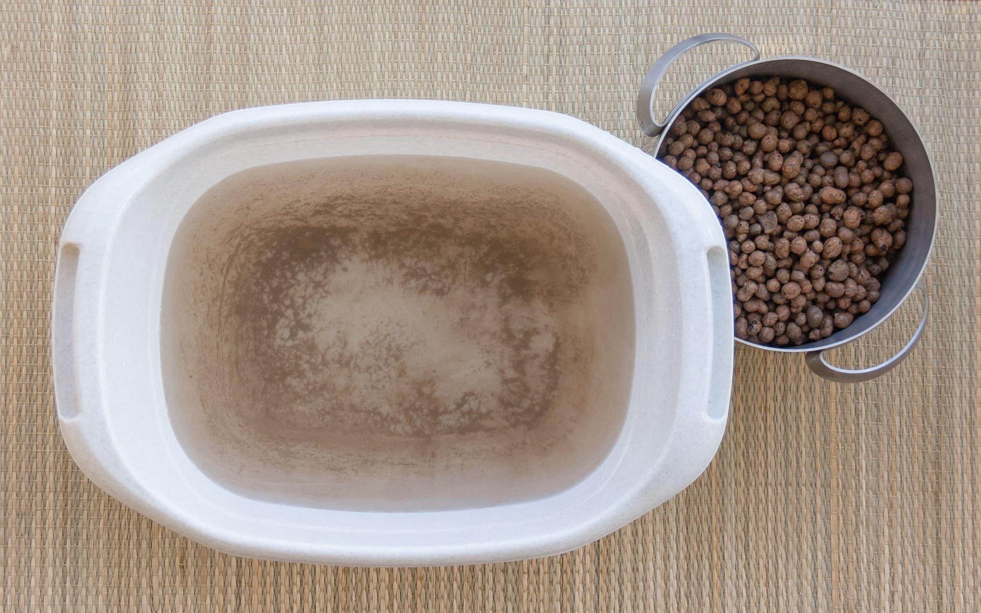 Подготовка керамзита для гидропоники