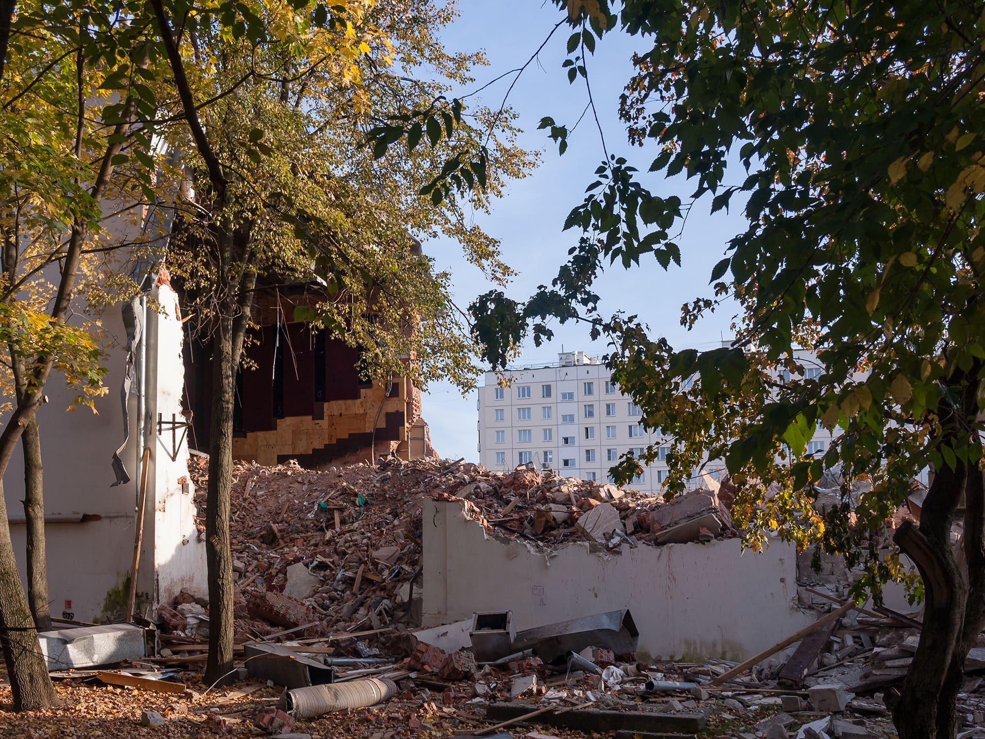 Руины кинотеатра Керчь