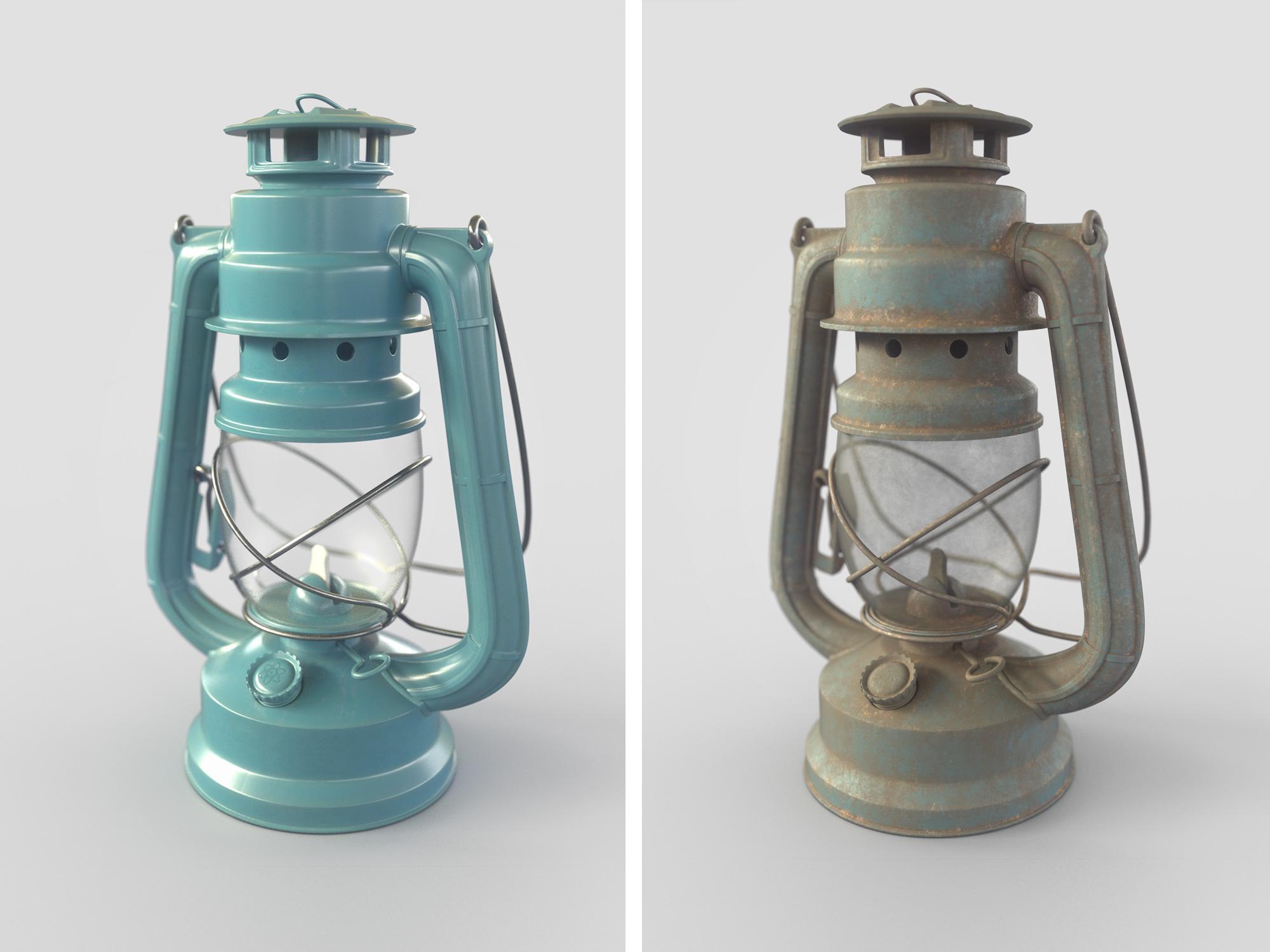 Керосиновая лампа 3D