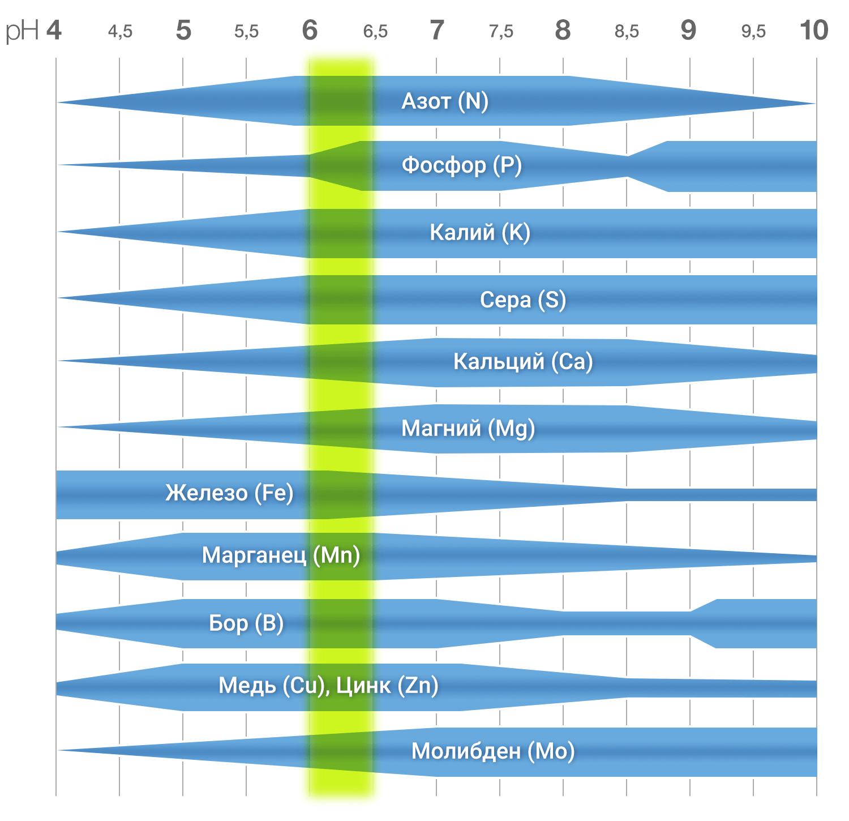 Доступность питательных элементов в гидропонном растворе