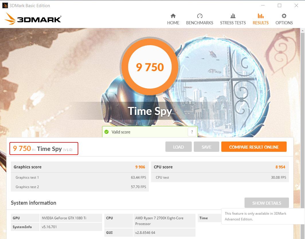 Результаты 3D-тестов 3Dmark