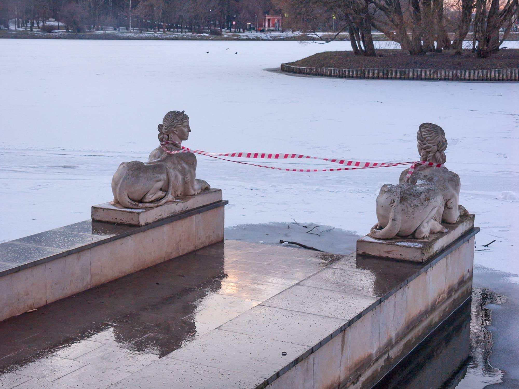 Царицынский парк январь 2020