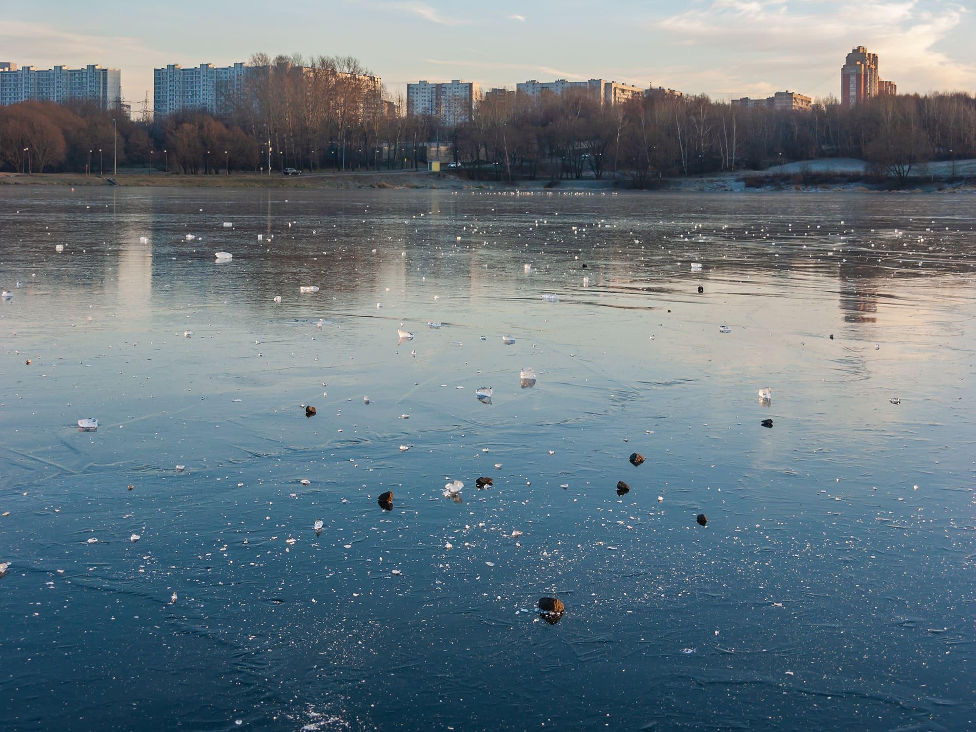 Нижний Царицынский пруд. Лёд