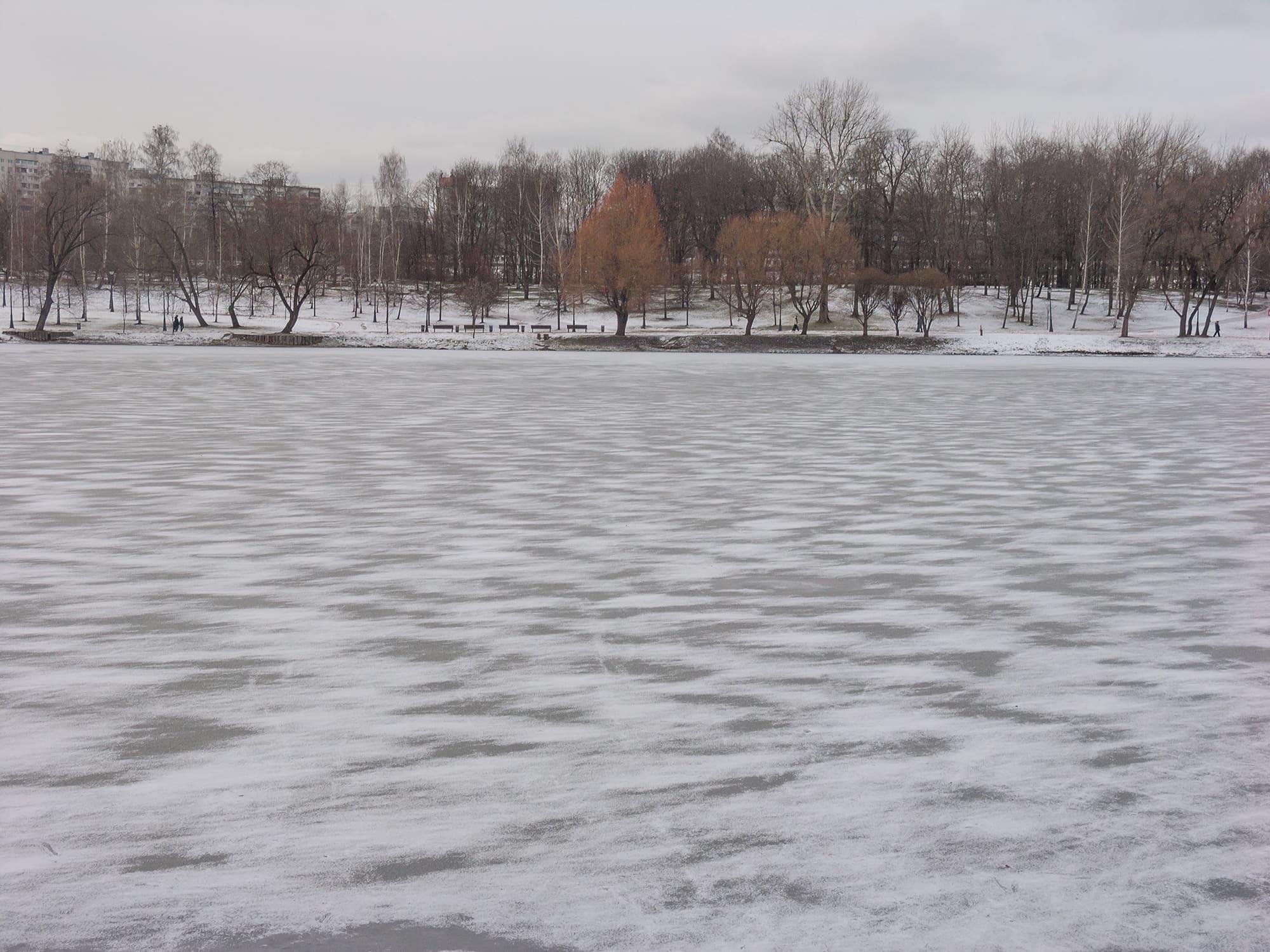 Царицыно узоры на льду