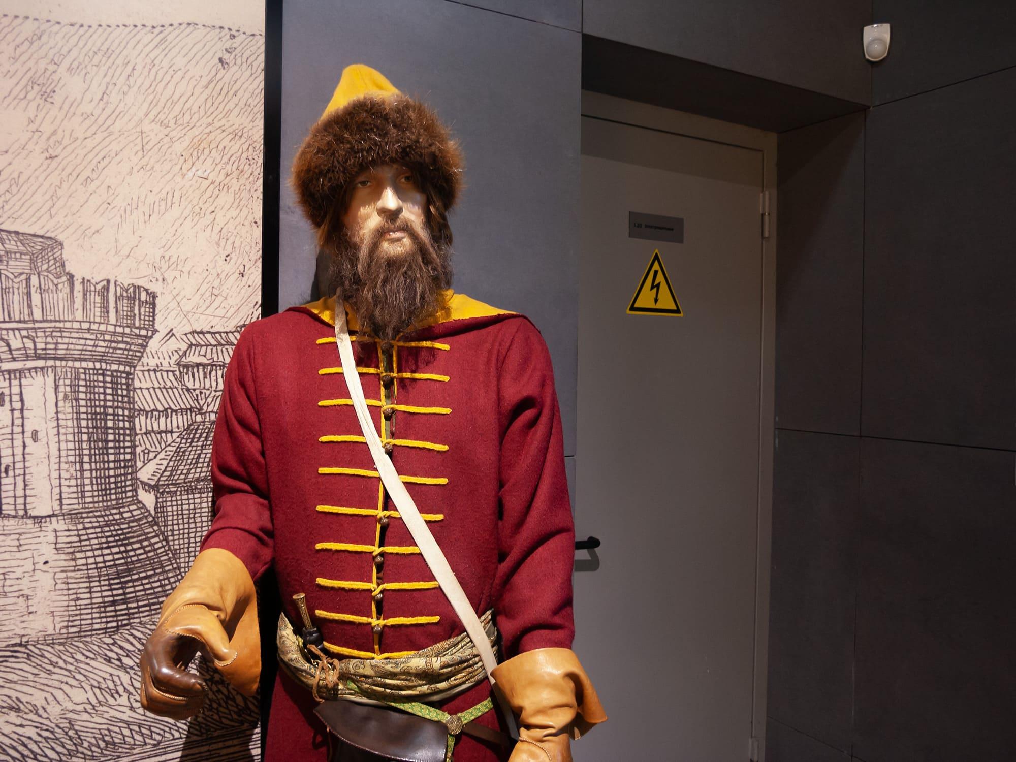 Манекен в Подземном музее Зарядье