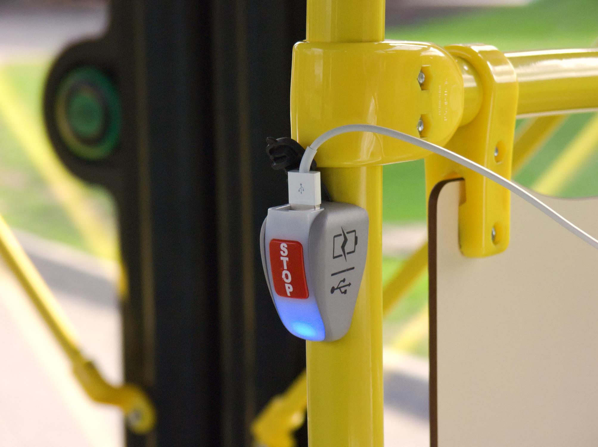 USB-зарядка в автобусе